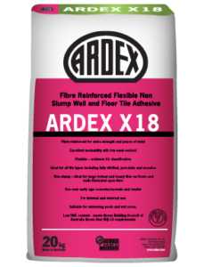 ARDEX X 18 Cement-based wall and floor tile adhesive