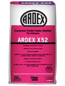 ARDEX X 52 Economical rubber modified cement-based adhesive